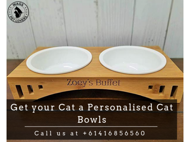 Get your Cat a Personalised Cat Bowls from Australia - 1